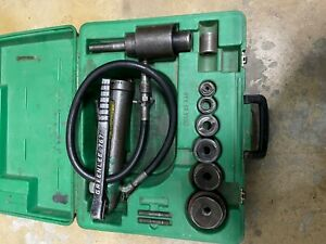 Greenlee 767 Hydraulic Knockout Punch Set With Greenlee 1 2 2 Punch