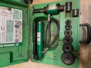 Greenlee 767 Hydraulic Knockout Punch Set With Greenlee 1 2 2 Punch Dies