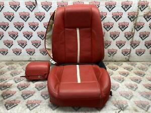 2011 Mustang Gt Oem Right Passenger Front Seat Leather Skin Top Bottom Red