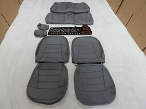 Leather Seat Covers Interior Fits Ford Mustang Convertible V6 Grey 1999 2004 F33