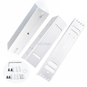 L Z Bracket Holder For 280kg 600lbs Access Control Electric Magnetic Door Lock