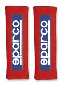 Sparco 01098s3r Tuning Harness Pads Racing Style For 3 Belts Universal Red