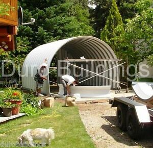 Durospan Steel 20x30x12 Metal Barn diy Home Shed Building Kit Open Ends Direct
