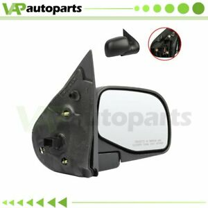 Fits 2002 2005 Ford Explorer Right Side Mirror Black Power Puddle Lamp