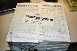 Stock Your Home Guest Check Book 20 Books 3 5 X 6 75 Server Note Pads And Pads
