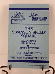 Vintage the Original Swanson Swanson s Blue Book Of Rafter Lengths More 1991