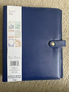 Recollections Undated Planner 6 Ring Binder 12 Monthly Tab Dividers Blue