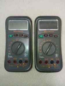 Snap On Blue Point Digital Multimeter Dmsc683 Broken Set Of 2