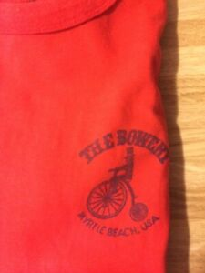 The Bowery At Myrtle Beach Sc 1985 Edition Tee Shirt Red Cotton Pre owned