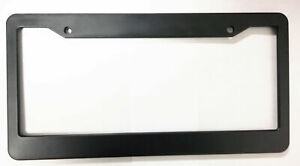 Blank License Plate Frame Black