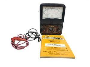 Simpson 260 Series 3 Volt Ohm milliameter Test With Leads And Manual