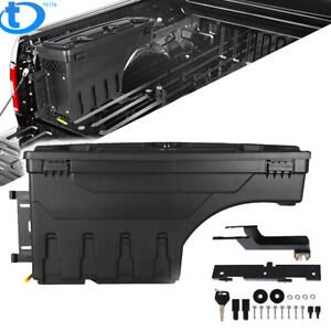 For 15 20 Ford F 150 Pickup Truck Bed Wheel Well Storage Tool Box W lock Left