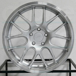 4 new 19 Xxr 530d Wheels 19x10 5 5x114 3 20 Silver Ml Rims 73 1