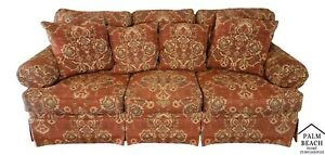 Wonderful Henredon Upholstery Collection 3 Seat Sofa W 4 Pillows And Arm Covers