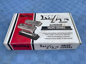 Vintage Nos M t Mickey Thompson Finned Aluminum Valve Covers Small Block Chevy