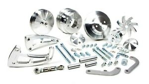 March Performance Aluminum Big Block Chevy Serpentine Ultra Pulley Kit P n 23030