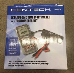 Cen Tech Lcd Automotive Multimeter With Tachometer Kit 95670 New