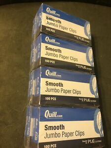 Quill Jumbo Smooth Paper Clips Stock P1jg 8 Boxes 100 Pcs Per Box