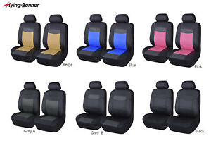 2 Car Seat Covers Leather Universal Front Set Waterproof Airbag Compatible Suv