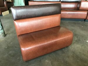 Restaurant Booths High Quality Brown Vinyl Leather 70 Long 40 Tall