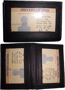 2 New Business Card Id Credit Card Case 3 Id Window Leather Card Case Women mens