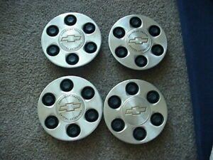 Set Of 4 Chevy Truck 15712387 Factory Oem Center Cap 6 Lug Used 9595263