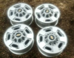 Chevy Silverado Sierra 2500 3500 2011 2019 Machined 17 Oem Set Of 4 Wheels Rims