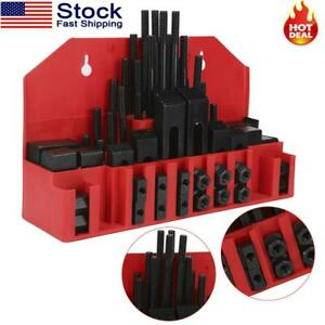 7 16 T Slot Clamp Set 58 Pcs 3 8 16 Stud Hold Down Clamping Machine Mill Drill