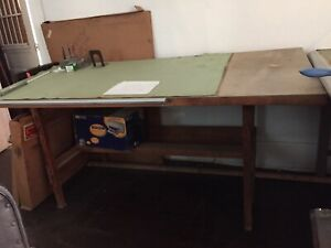 Vintage Mayline Drafting Table Drafting Machine Architectural Art 5 Wood 75