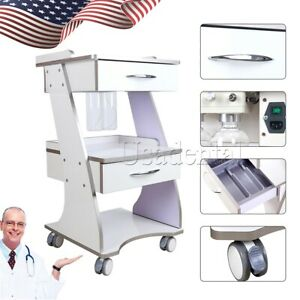 Mobile Dental Built in Socket Tool Cart Trolley auto water Bottle Supply System