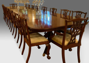 Magnificent Regency Style Brazilian Mahogany Dining Table Pro French Polished