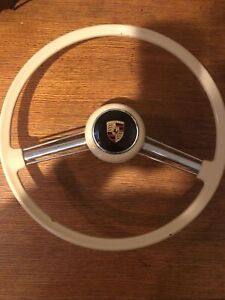 Awesome Original Porsche 356 Banjo Steering Wheel With Horn Button