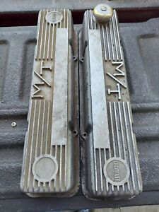 Mickey Thompson M T Small Block Chevy Valve Covers Pair Used