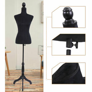 Female Mannequin Torso Dress Clothing Form Display Sewing Mannequin Black New