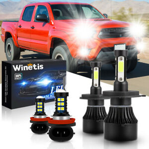 For Toyota Tacoma 2012 2015 Hi low Beam Fog Light Bulbs Combo Led Headlight Kit