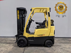 2012 Hyster S50ft 5000lb Smooth Cushion Forklift Lpg Lift Truck 83 240 8882