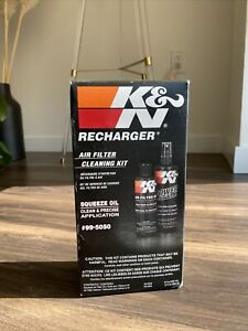 99 5050 K N Air Intake Cleaner Recharger Kit With Oil Free Shipping