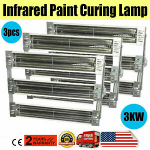 3kw Spray Baking Booth Oven Infrared Paint Curing Heater Lamps Heating Lights X3