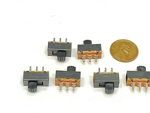 6 Pieces Slide Switch Ss22f24 2p2t 6 Pins 2 Position On off G5