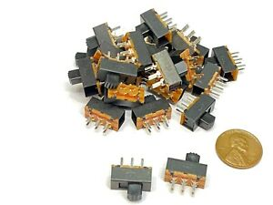 25 Pieces Slide Switch Ss22f24 2p2t 6 Pins 2 Position On off G5