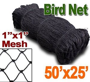 Bird Netting 25ftx50ft Net Netting For Bird Poultry Avaiary Game Pens 1 Hole