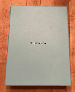 Tiffany Co Black Leather Suede Necklace Presentation Gift Pouch Blue Box