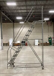11 Step Rolling Warehouse Ladder