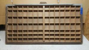 Letterpress Wood Printer Type Drawer Double Cap Tray Shadowbox Ca47 12