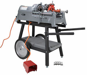 Reconditioned Ridgid 535 V1 Pipe Threader With 811a Head Dies Cart Adapter