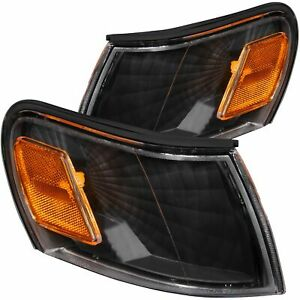 Anzo Corner Lights Black Euro Amber For 93 97 Toyota Corolla 521036