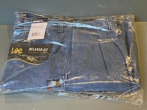 Lee Jeans 4141530 Relaxed Fit Pleated Stonewash 36x32 Wrinkle Resist NOS $19.95
