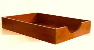 Vtg Mcm Hedberg 722 Dovetail Wood Paper Mail Sorter Tray Office Desk Accessory