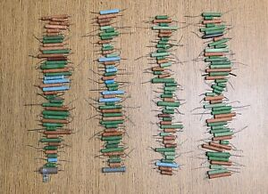 Large Lot Of 170 Vintage Wire Wound Resistors Mixed Lot
