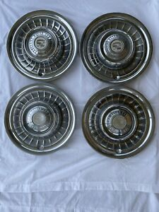 1959 Cadillac Hub Caps 15 Set Of 4 Caddy Wheel Covers Hubcaps 59